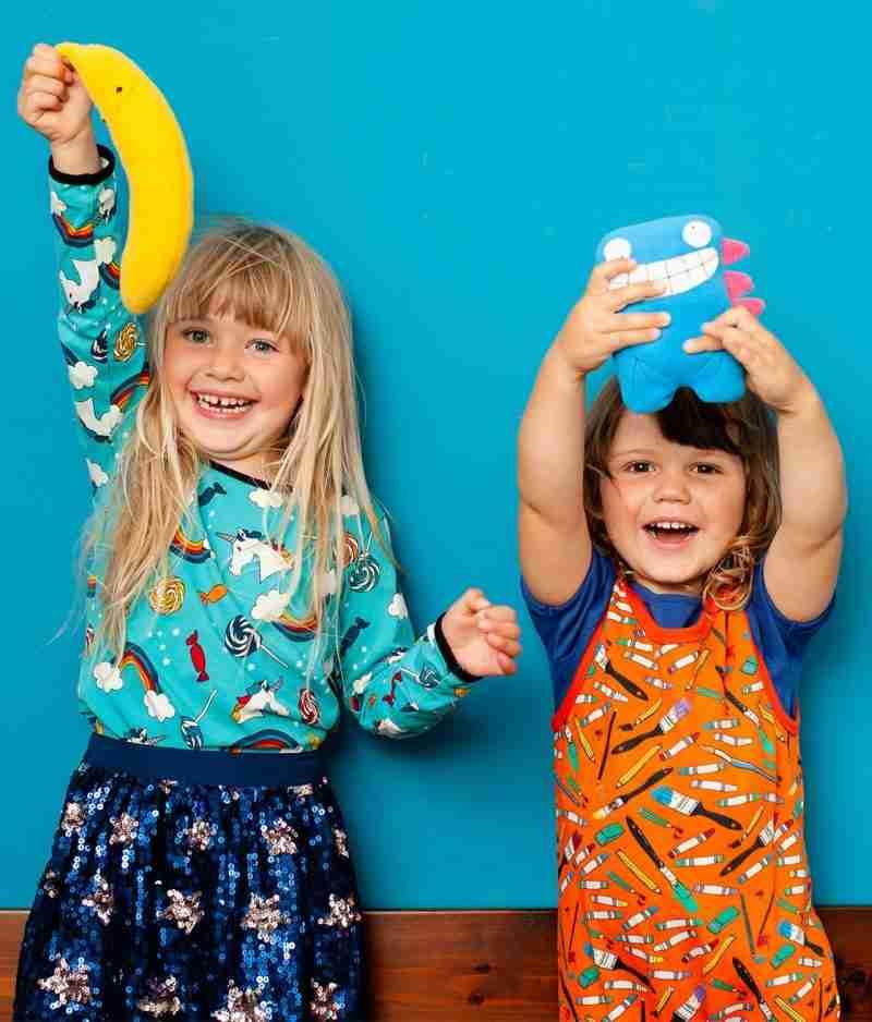 Kids playing with Dalton and Banana toys