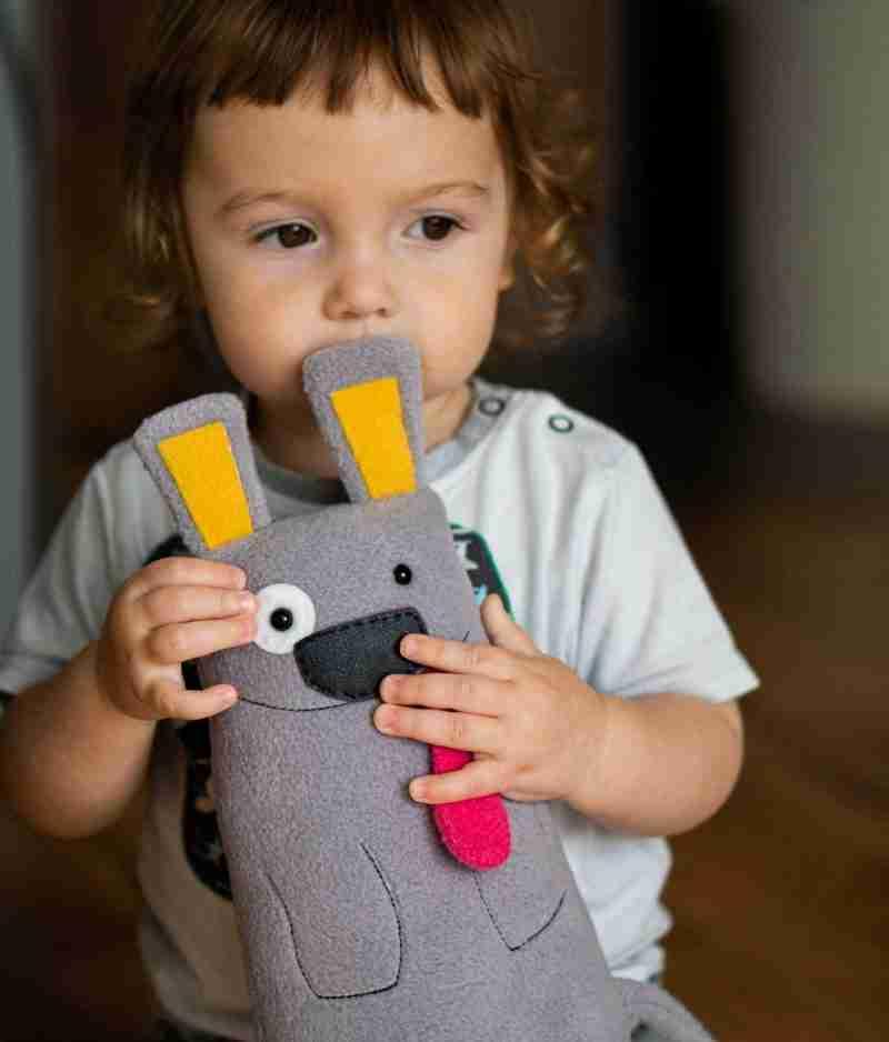 Plush dog toy for kids