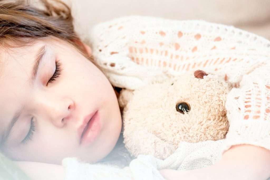 Sleep with teddy bear