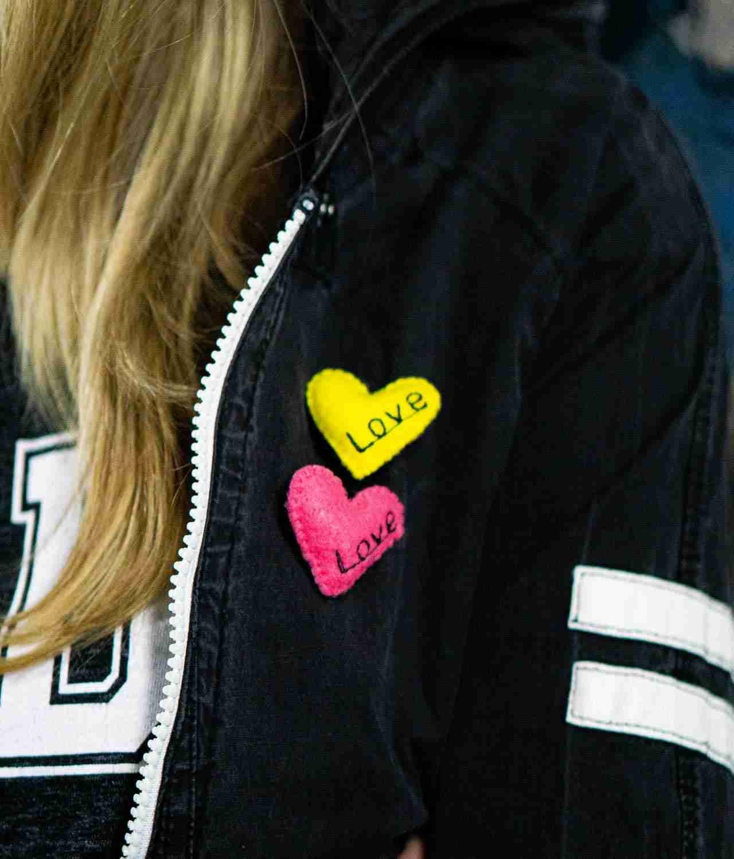 Love Pin Brooch for Girls