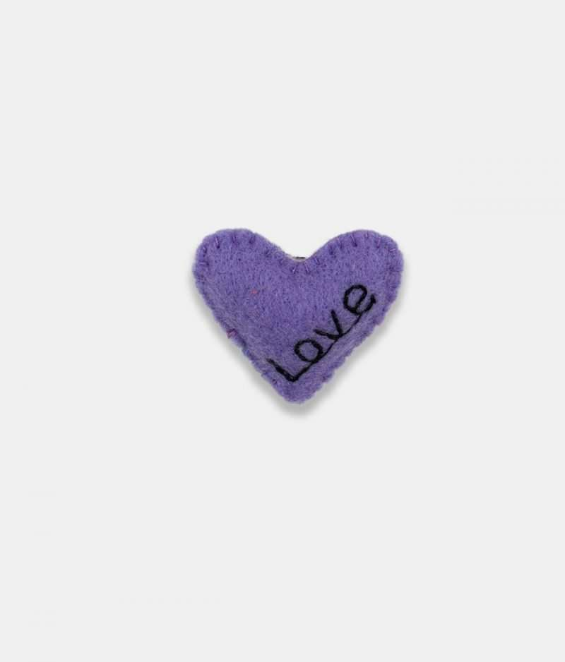 Love Purple Brooch