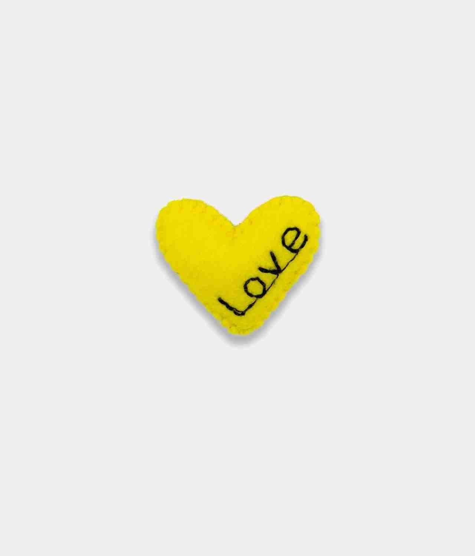 Love Yellow Brooch