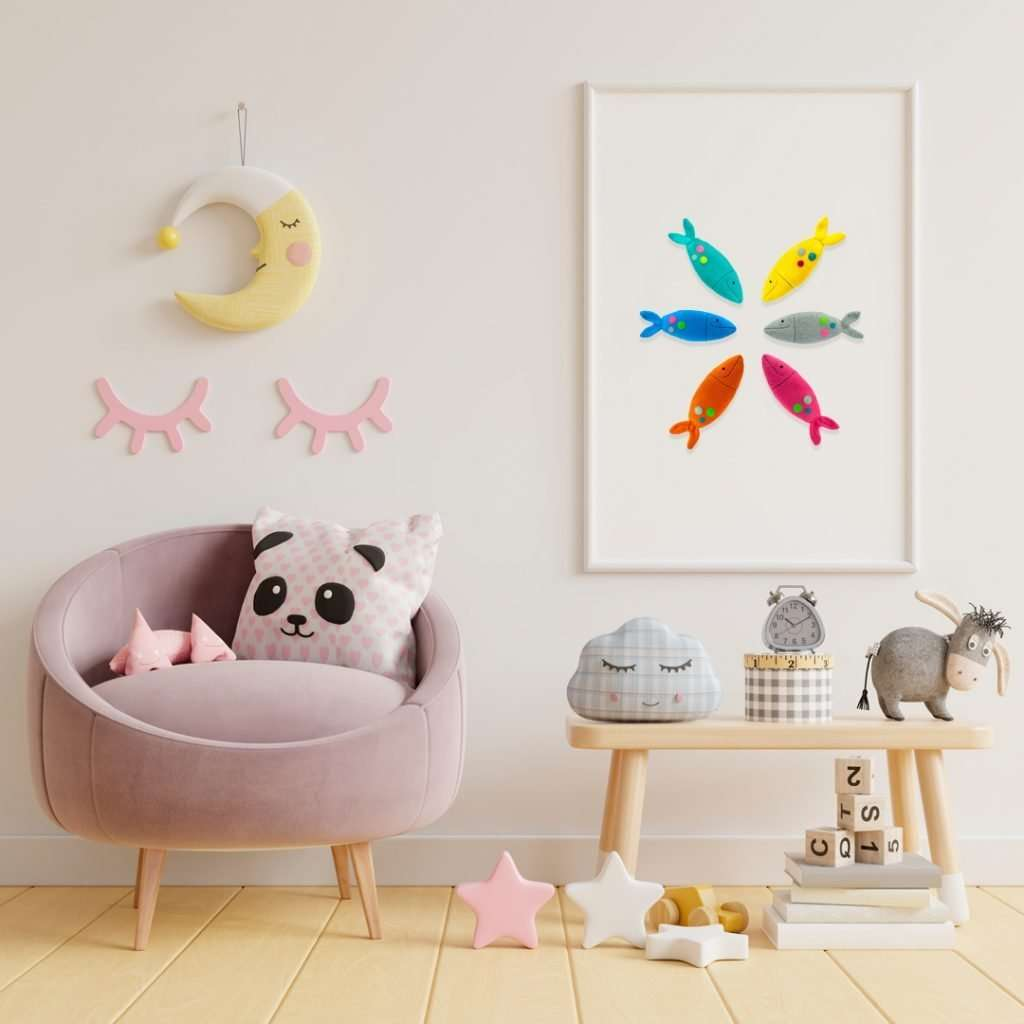 Plushies for nursery decor
