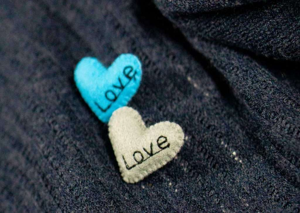Love Brooches Blue Grey