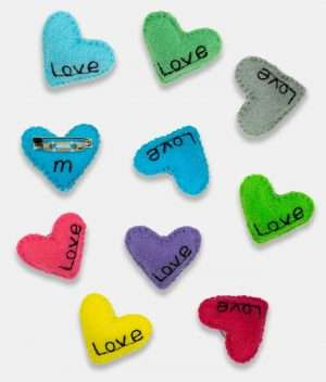 Pin Brooch Love Badge