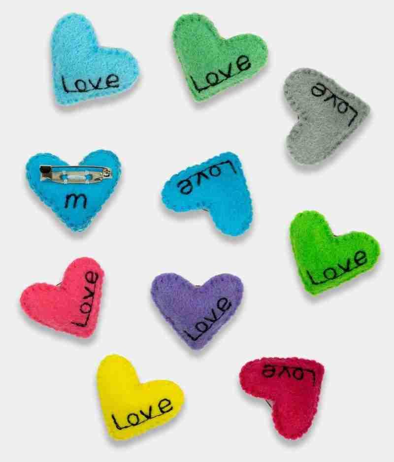 Pin Brooch Love Badge