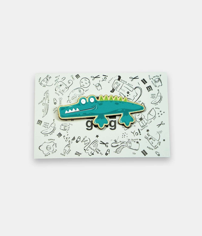 Alligator Pin Badge