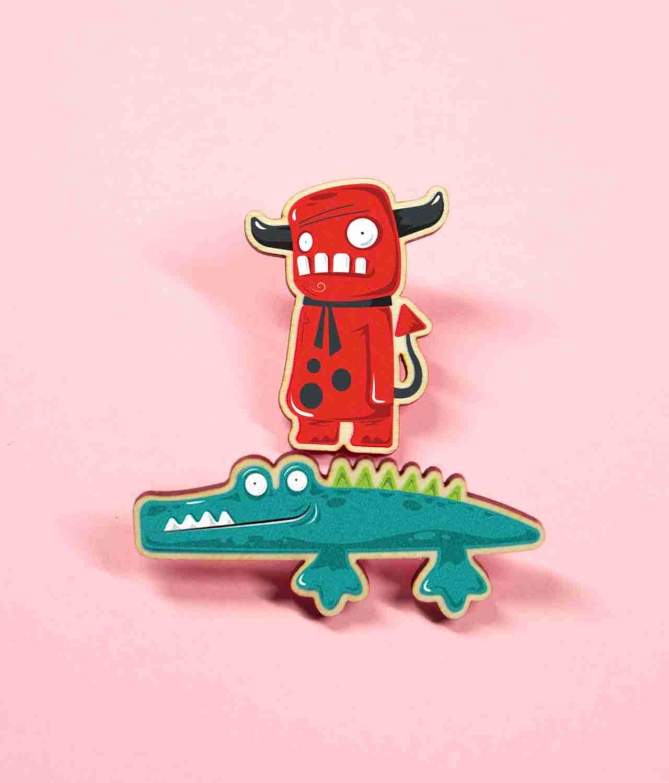 Funny Pin Bagde