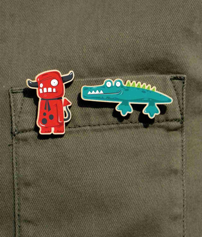 animal pin badges