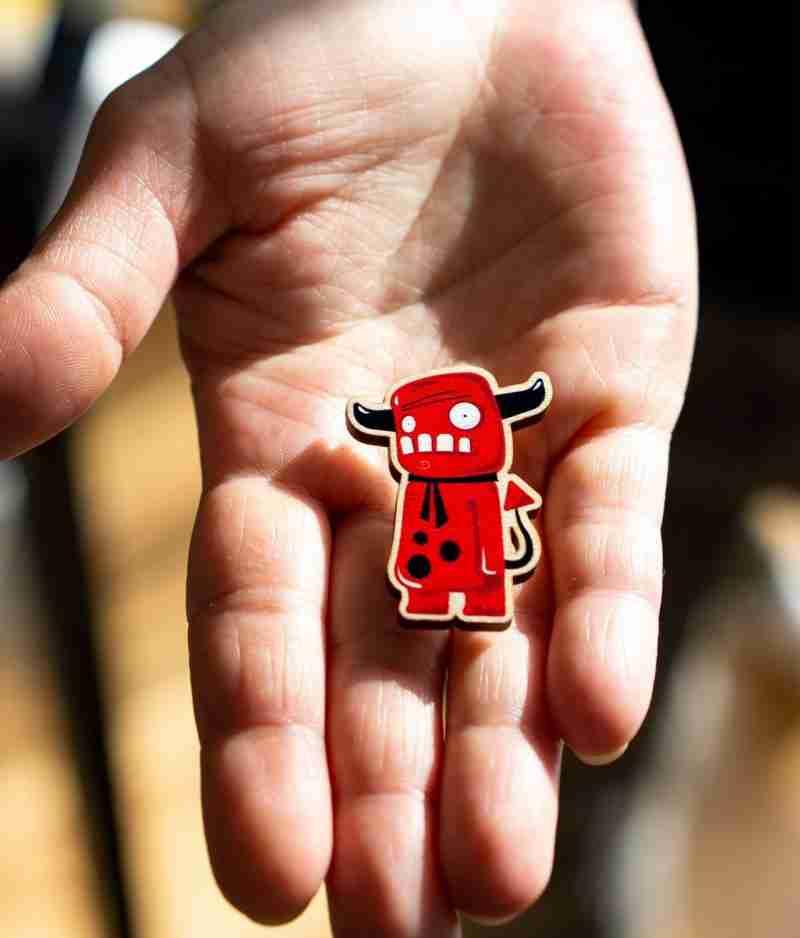 handmade lapel pin