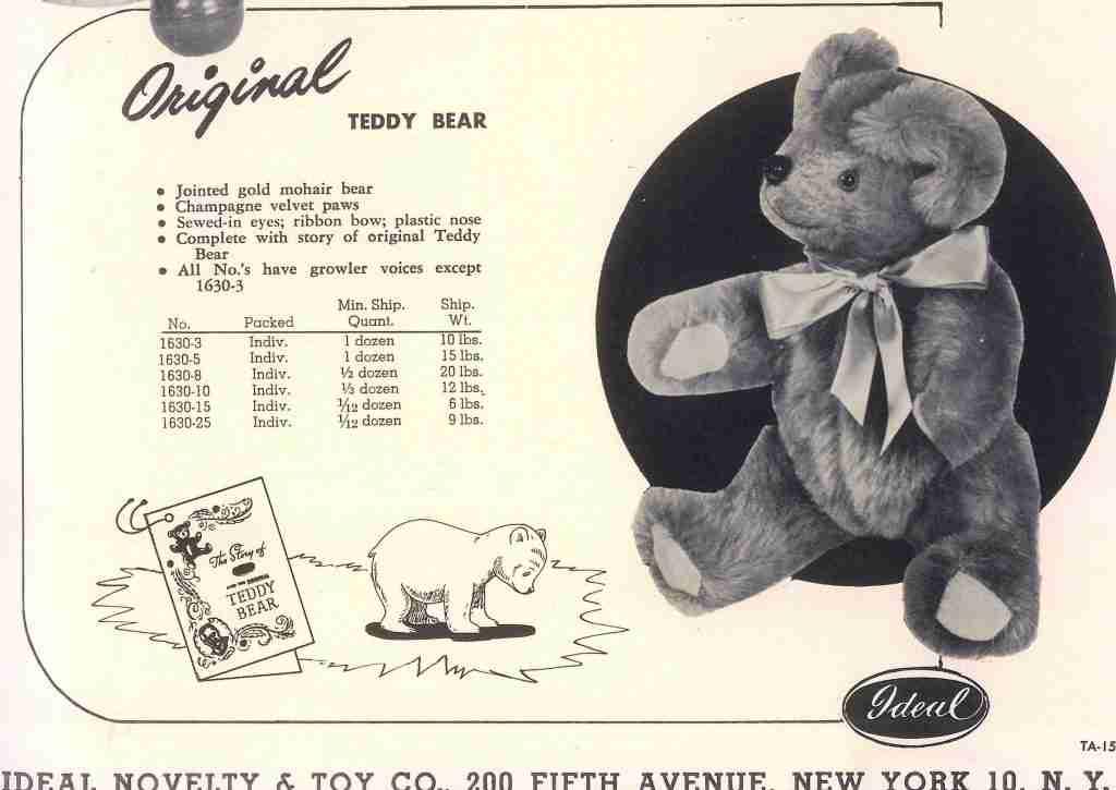 Original Teddy Bear toy from Ideal Company